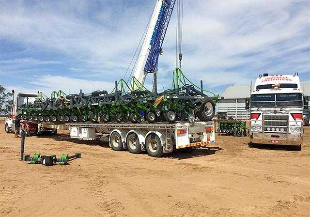 Inverell Freighters Loading Ag equipment